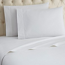 image of Micro Flannel® Solid Sheet Set in White