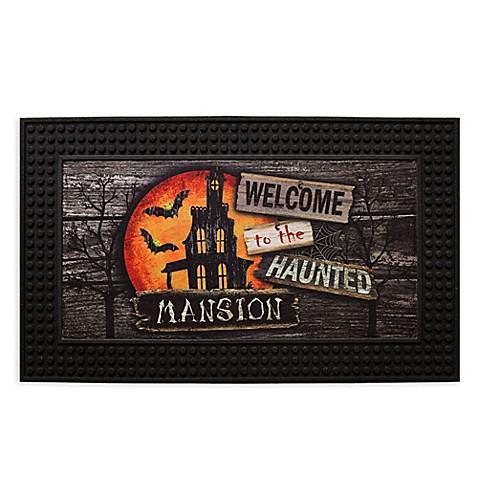 Moonlit Mansion 18 5 Inch X 30 5 Inch Led Halloween Door