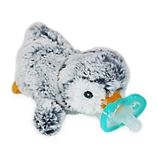 image of RaZ-Buddy JollyPop Penguin Pacifier Holder with Removable Pacifier