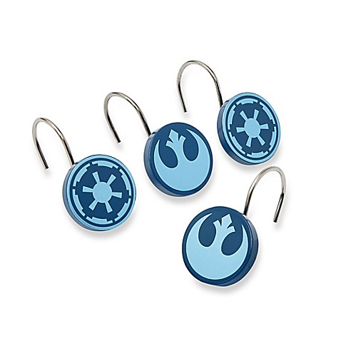 Star Warsu0026trade; Classic Saga Shower Curtain Hooks (Set ...