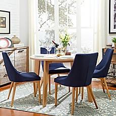 image of verona home hudson midcentury 5piece round dining set
