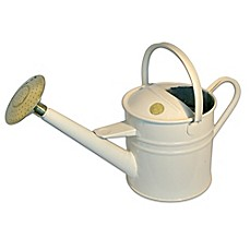 Haws Traditional 1.2-Gallon Metal Watering Can in Cream