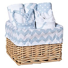image of Trend Lab® 7-Piece Feeding Basket Gift Set in Blue Sky