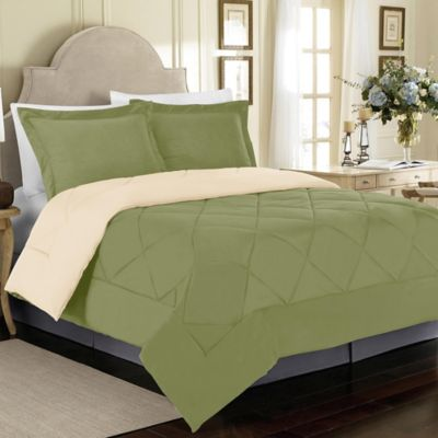 Solid Reversible Comforter Set Bed Bath Amp Beyond