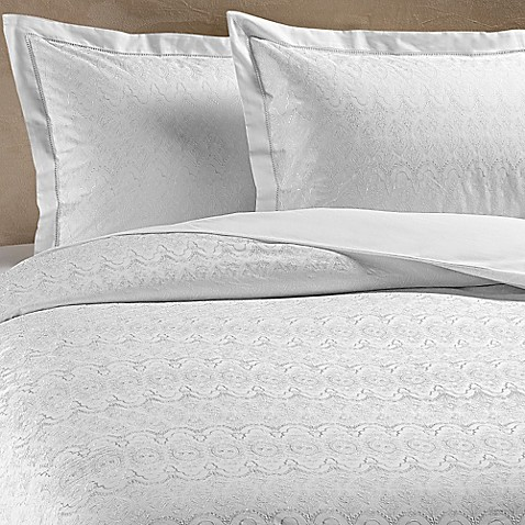 buy christy chantilly queen flat sheet in white from bed. Black Bedroom Furniture Sets. Home Design Ideas