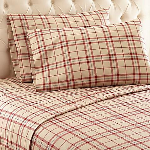Micro Flannel 174 Carlton Plaid Sheet Set Bed Bath Amp Beyond
