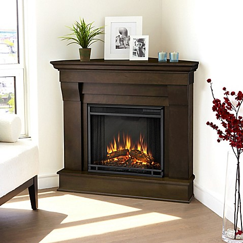 The Real Flame Chateau Corner Electric Fireplace is the perfect decoration for your living room. The realistic LED flames will create a warm and inviting ambience while the mantel