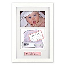 image of Malden Designs® Baby Memento 4-Inch x 6-Inch Shadow Box in White