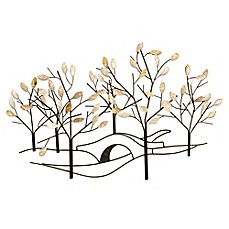 Image Of Tree Lined Street Metal Wall Art