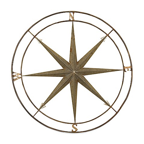 Compass Metal Wall Art  sc 1 st  Bed Bath u0026 Beyond & Compass Metal Wall Art - Bed Bath u0026 Beyond