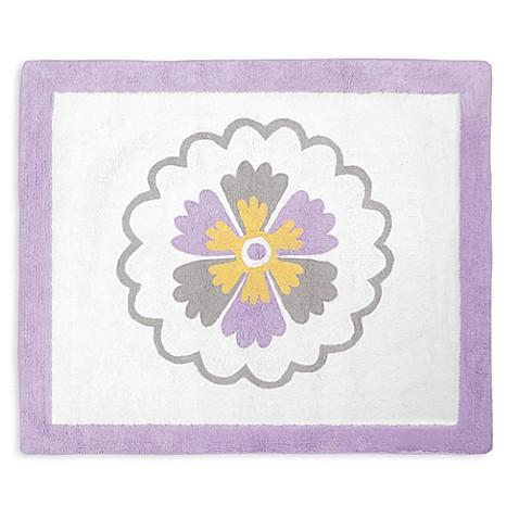 Sweet jojo designs suzanna accent floor rug in lavender for Sweet jojo designs bathroom
