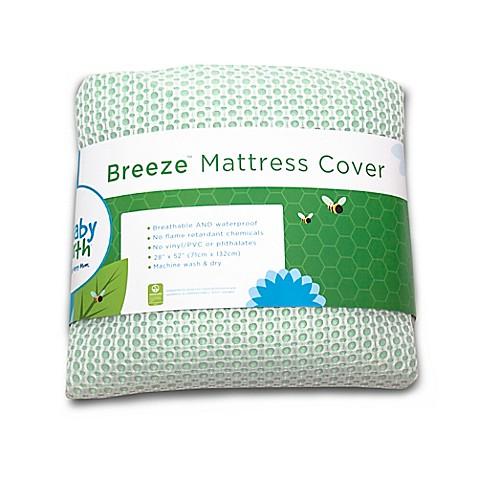 Breeze breathable waterproof crib mattress cover buybuy baby for Breathable crib mattress