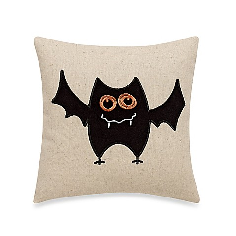 Batty Halloween Throw Pillow in Black - Bed Bath & Beyond