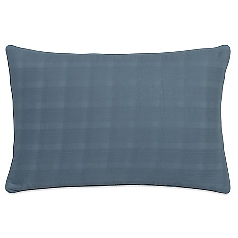 Buy Portico Glacier Bay Organic Plaid Oblong Throw Pillow in Blue from Bed Bath & Beyond