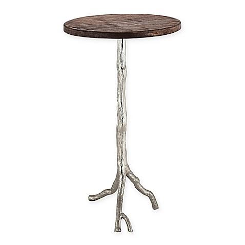 Sterling Industries Wood And Nickel Side Table In Nickel