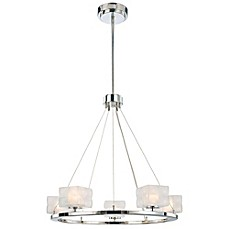 image of George Kovacs® Squared 5-Light Chandelier in Polished Nickel