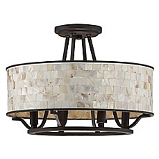 image of Quoizel Aristocrat 4-Light Semi-Flush Mount in Bronze