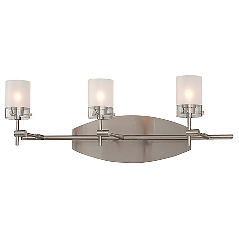 7 light bathroom fixture george kovacs 174 shimo 3 light bath fixture in brushed 15336