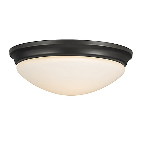 light led flush mount ceiling fixture in oil rubbed bronze with glass. Black Bedroom Furniture Sets. Home Design Ideas