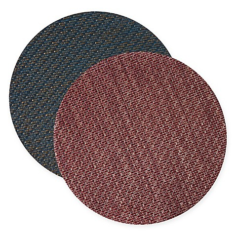 Keeco Woven Vinyl Sequence Round Placemat Bed Bath Amp Beyond