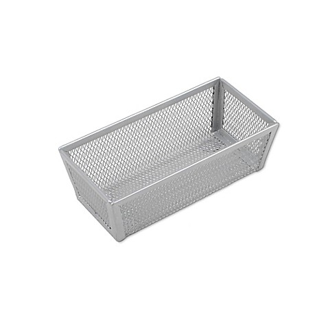 .ORG Powder-Coated 3-Inch x 6-Inch Mesh Drawer Organizer in Silver