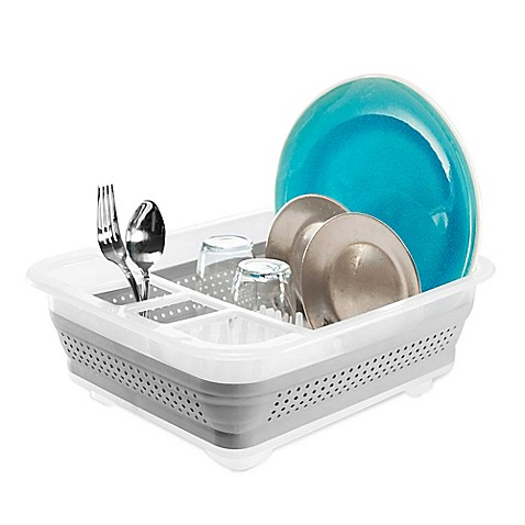 madesmart® Collapsible Dish Rack in Clear