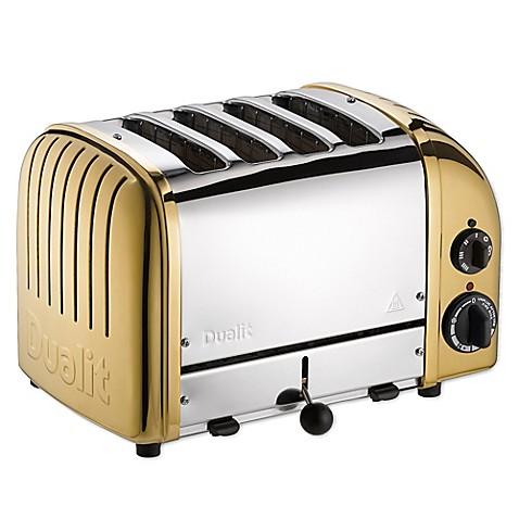 Dualit NewGen 4 Slice Toaster in Brass Bed Bath & Beyond