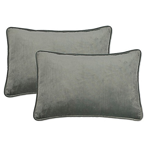 Sherry Kline Richmond Velvet Boudoir Oblong Throw Pillow (Set of 2) - Bed Bath & Beyond