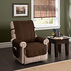 Image Of Faux Leather Recliner And Wingback Chair Protector