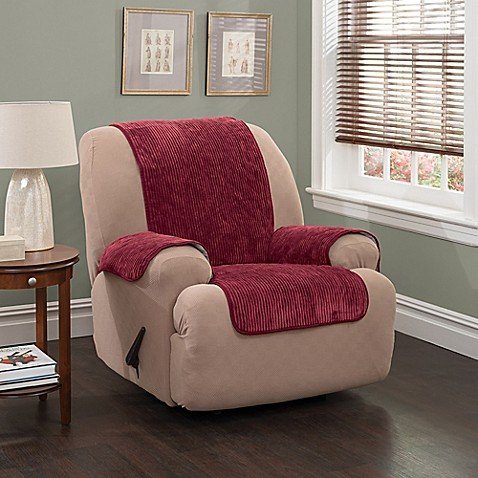 Plush Stripe Recliner And Wingback Chair Cover Bed Bath