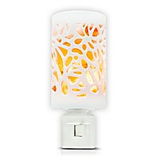 image of Himalayan Glow® Crystal Salt Floral Ceramic Nightlight