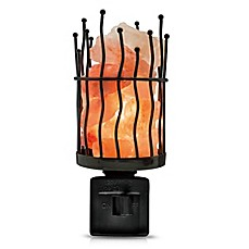 image of Himalayan Glow® Wavy Pillar Salt Crystal Nightlight