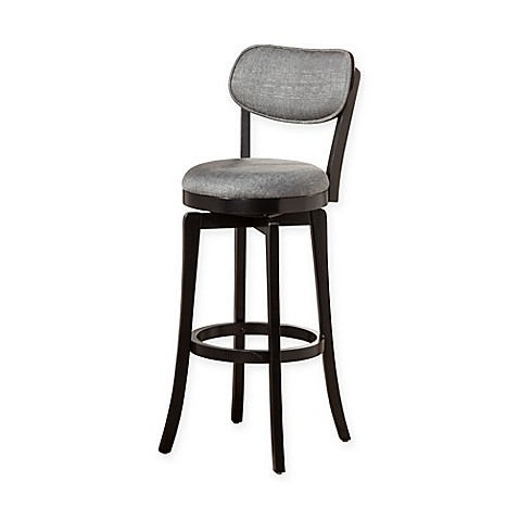 Buy Hillsdale Wood Sloan Swivel Counter Stool In Black
