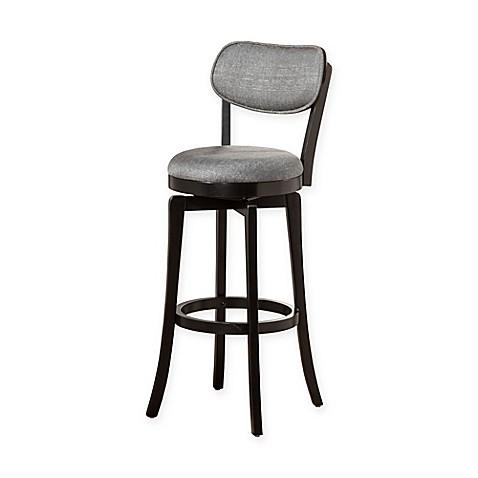 hillsdale wood sloan swivel counter stool in black grey bed bath
