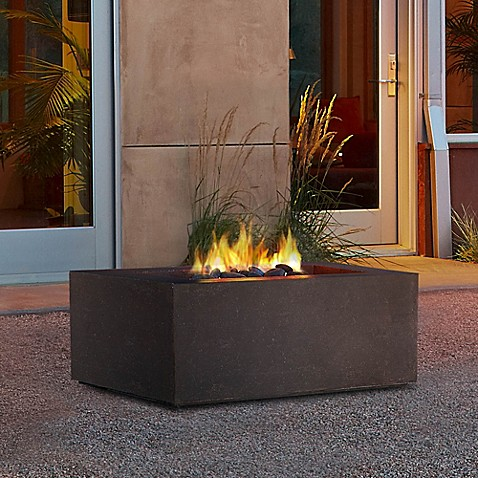 Real Flameu0026reg; Baltic Square Natural Gas Fire Table
