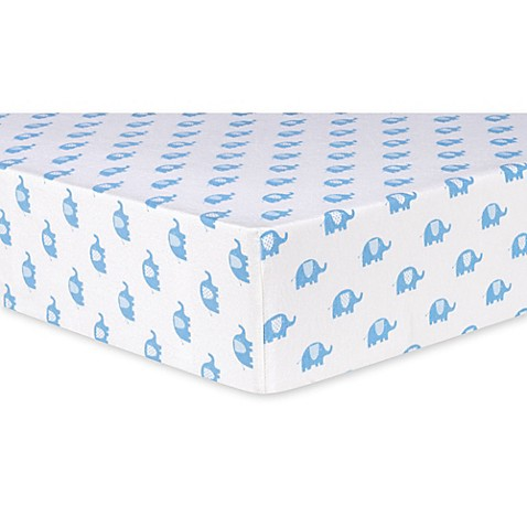 Buy Trend Lab® Elephants Deluxe Flannel Fitted Crib Sheet ...