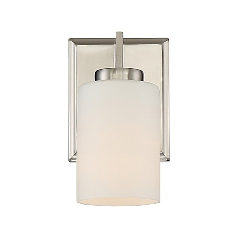 Buy Quoizel Taylor 1 Light Bathroom Wall Sconce In Brushed Nickel From Bed Bath Beyond