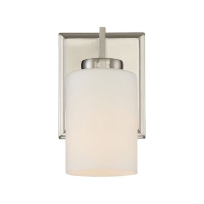Bathroom Wall Sconces Brushed Nickel : Buy Quoizel Taylor 1-Light Bathroom Wall Sconce in Brushed Nickel from Bed Bath & Beyond