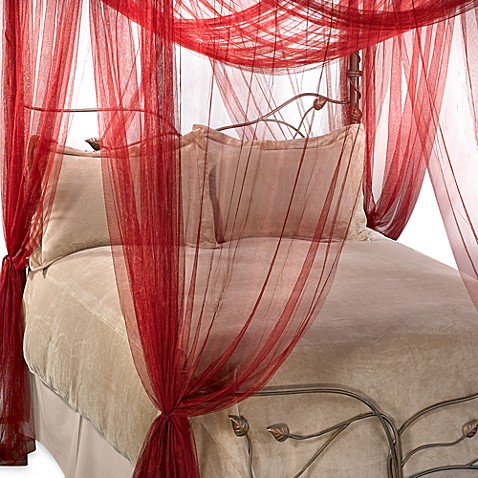 Majesty Bed Canopy In Ruby Red