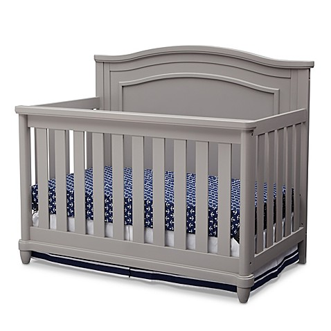 simmons 4in1 convertible crib in grey