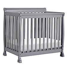 image of DaVinci Kalani 2-in1 Convertible Mini Crib in Grey