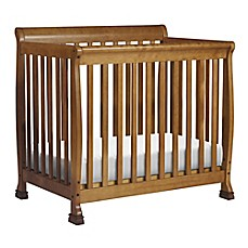 image of DaVinci Kalani 2-in-1Mini Crib and Twin Bed in Chestnut