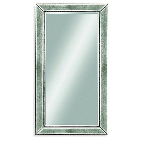 48 inch mirror. Bassett Mirror Company 36-Inch X 48-Inch Beaded In Silver Leaf 48 Inch L