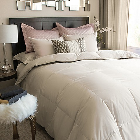 Nikki Chu Isra White Down Comforter In Clay Bed Bath