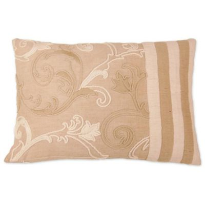 Buy Applique Linen Square Throw Pillow in Beige from Bed Bath & Beyond
