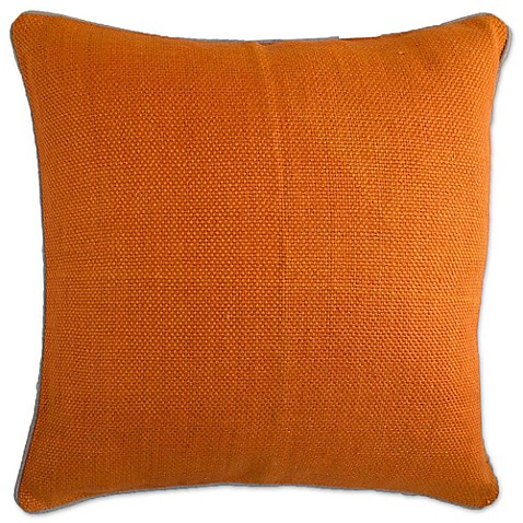 Bed Bath And Beyond Orange Throw Pillows : Buy Aura Basket Weave Square Throw Pillow in Orange from Bed Bath & Beyond