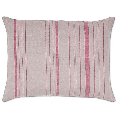 Buy Aura Vertical Stripes Linen Oblong Linen Throw Pillow
