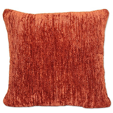 Throw Pillow Rust : Buy Streamers Chenille Square Throw Pillow in Rust from Bed Bath & Beyond