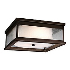 image of Fiess® Pediment 3-Light Flush Mount Outdoor Light