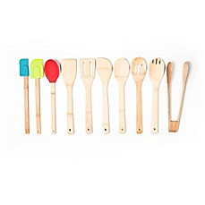 image of 10-Piece Bamboo and Silicone Tool Set